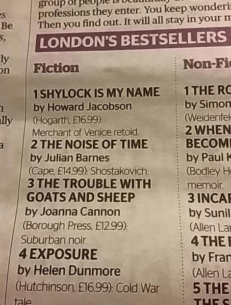 London's best sellers march